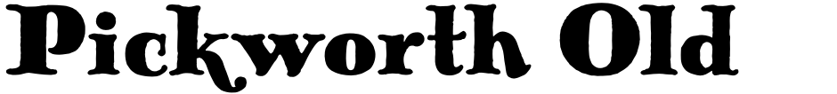 Click to view  Pickworth Old Style Pro font, character set and sample text