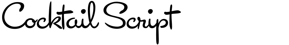 Click to view  Cocktail Script font, character set and sample text