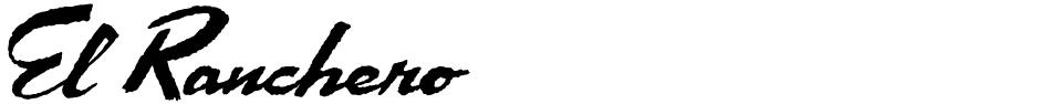 Click to view  El Ranchero font, character set and sample text