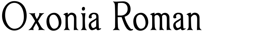 Click to view  Oxonia Roman font, character set and sample text
