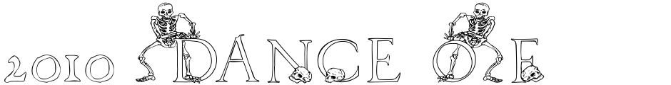 Click to view  2010 Dance Of Death font, character set and sample text