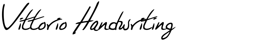 Click to view  Vittorio Handwriting font, character set and sample text