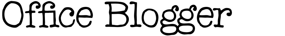 Click to view  Office Blogger font, character set and sample text