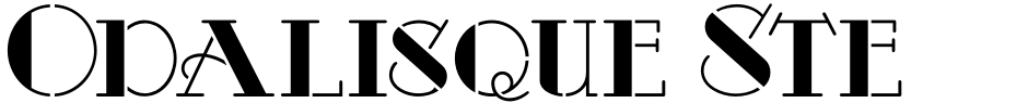 Click to view  Odalisque Stencil NF font, character set and sample text