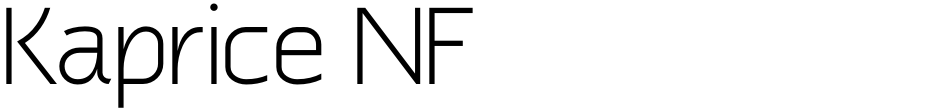 Click to view  Kaprice NF font, character set and sample text