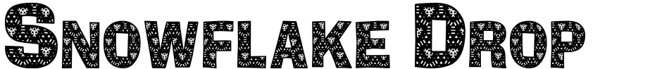 Click to view  Snowflake Drop Caps font, character set and sample text