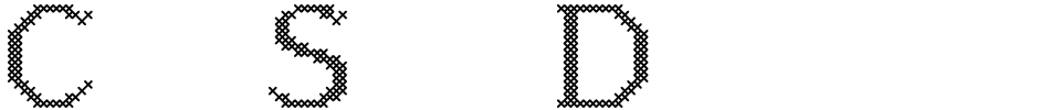 Click to view  Cross Stitch Discreet font, character set and sample text