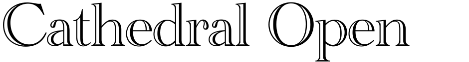 Click to view  Cathedral Open font, character set and sample text