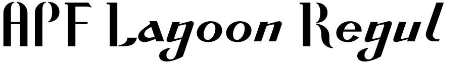 Click to view  APF Lagoon Regular font, character set and sample text