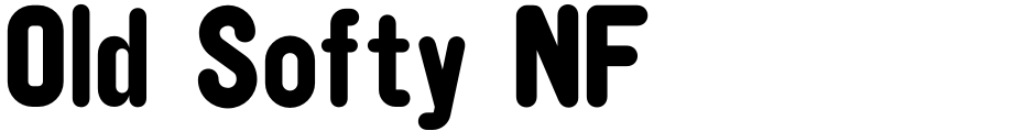 Click to view  Old Softy NF font, character set and sample text