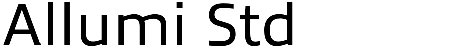 Click to view  Allumi Std font, character set and sample text