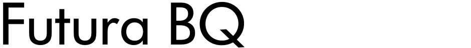 Click to view  Futura BQ font, character set and sample text
