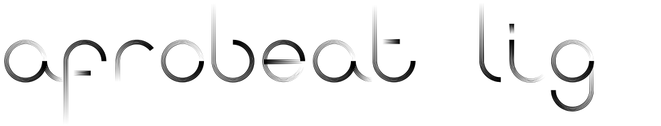 Click to view  Afrobeat Light font, character set and sample text