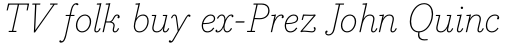 Bodoni Egyptian Pro ExtraLight Italic sample