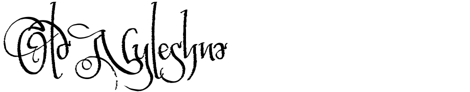 Click to view  Old Nyleshna font, character set and sample text
