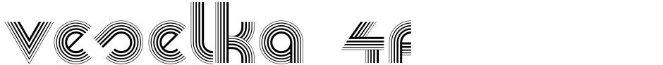 Click to view  Veselka 4F font, character set and sample text