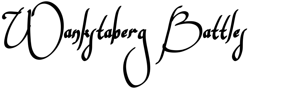 Click to view  Wankstaberg Battles font, character set and sample text