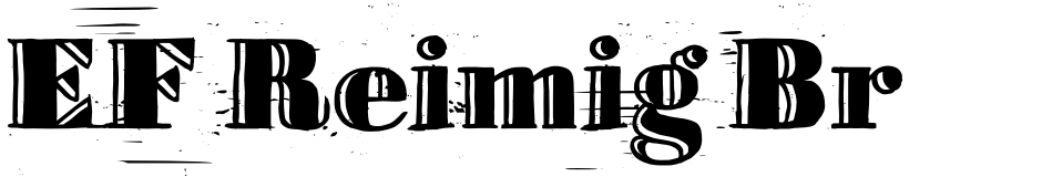 Click to view  EF Reimig Brush font, character set and sample text