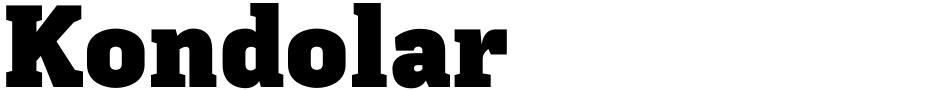 Click to view  Kondolar font, character set and sample text