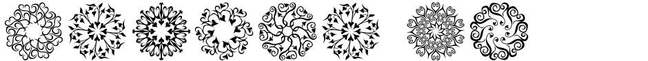 Click to view  Karika Hearts font, character set and sample text