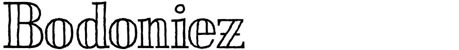 Click to view  Bodoniez font, character set and sample text