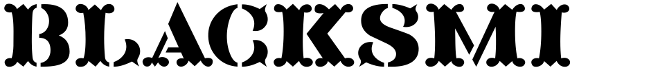Click to view  Blacksmith JNL font, character set and sample text