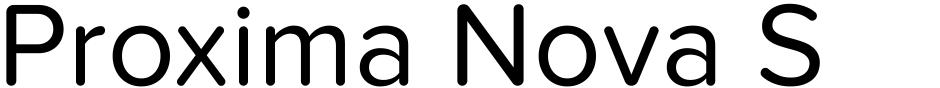 Click to view  Proxima Nova Soft font, character set and sample text