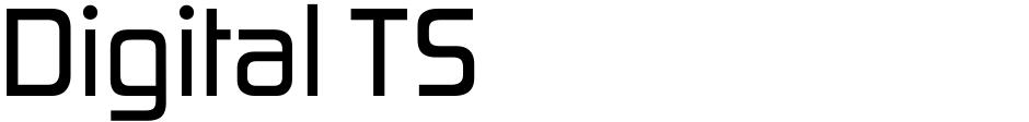Click to view  Digital TS font, character set and sample text