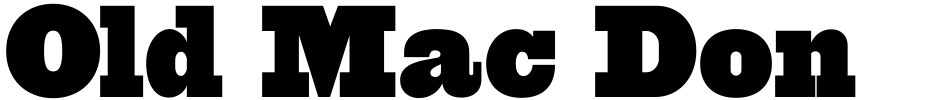 Click to view  Old Mac Donald NF font, character set and sample text