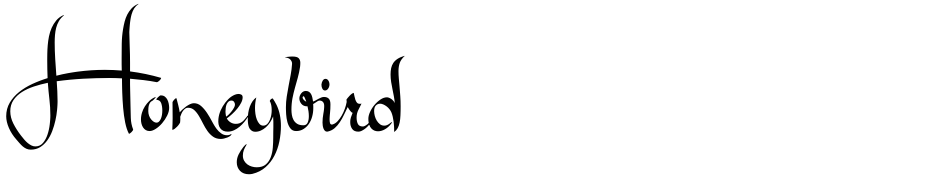 Click to view  Honeybird font, character set and sample text
