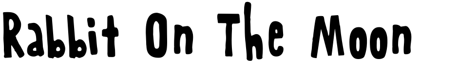 Click to view  Rabbit On The Moon font, character set and sample text