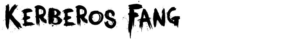 Click to view  Kerberos Fang font, character set and sample text