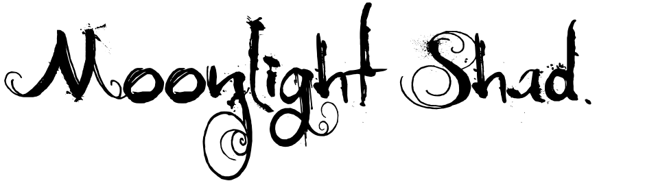 Click to view  Moonlight Shadow font, character set and sample text