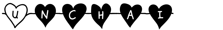 Click to view  Unchain My Heart font, character set and sample text
