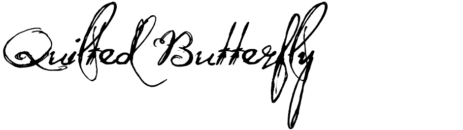 Click to view  Quilted Butterfly font, character set and sample text