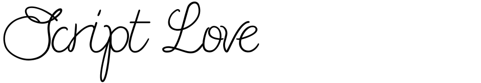 Click to view  Script Love font, character set and sample text