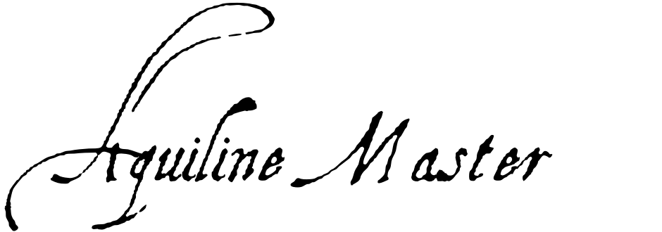 Click to view  Aquiline Master font, character set and sample text