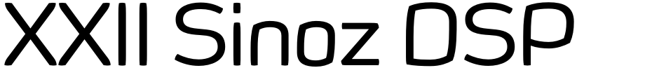 Click to view  XXII Sinoz DSP font, character set and sample text