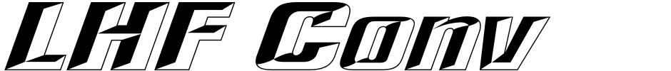 Click to view  LHF Convecta font, character set and sample text