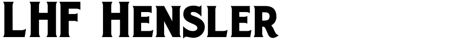 Click to view  LHF Hensler font, character set and sample text