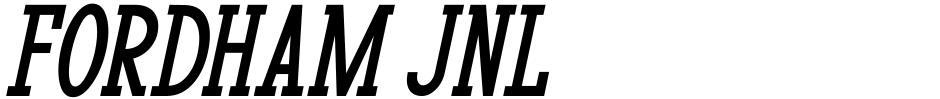 Click to view  Fordham JNL font, character set and sample text