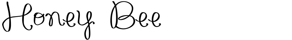 Click to view  Honey Bee font, character set and sample text
