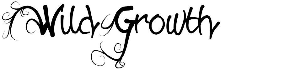 Click to view  Wild Growth font, character set and sample text