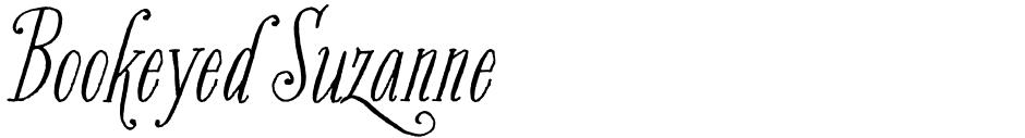 Click to view  Bookeyed Suzanne font, character set and sample text