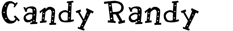 Click to view  Candy Randy font, character set and sample text