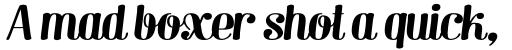 Barber 3 Italic sample