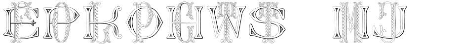 Click to view  Dolphus-Mieg Monograms font, character set and sample text