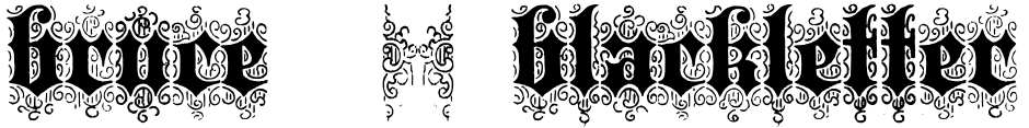 Click to view  Bruce 532 Blackletter font, character set and sample text