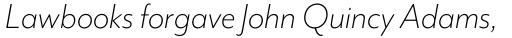 Mr Eaves Mod Light Italic sample