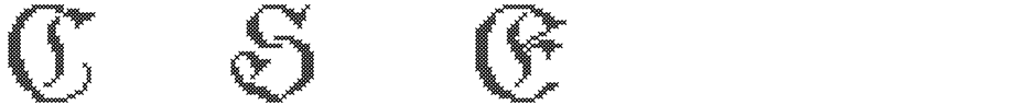 Click to view  Cross Stitch Elaborate font, character set and sample text